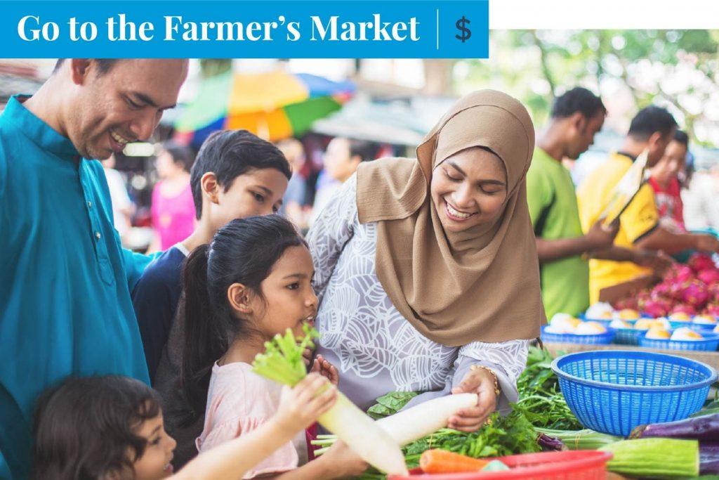 go to the farmer's market on mother's day