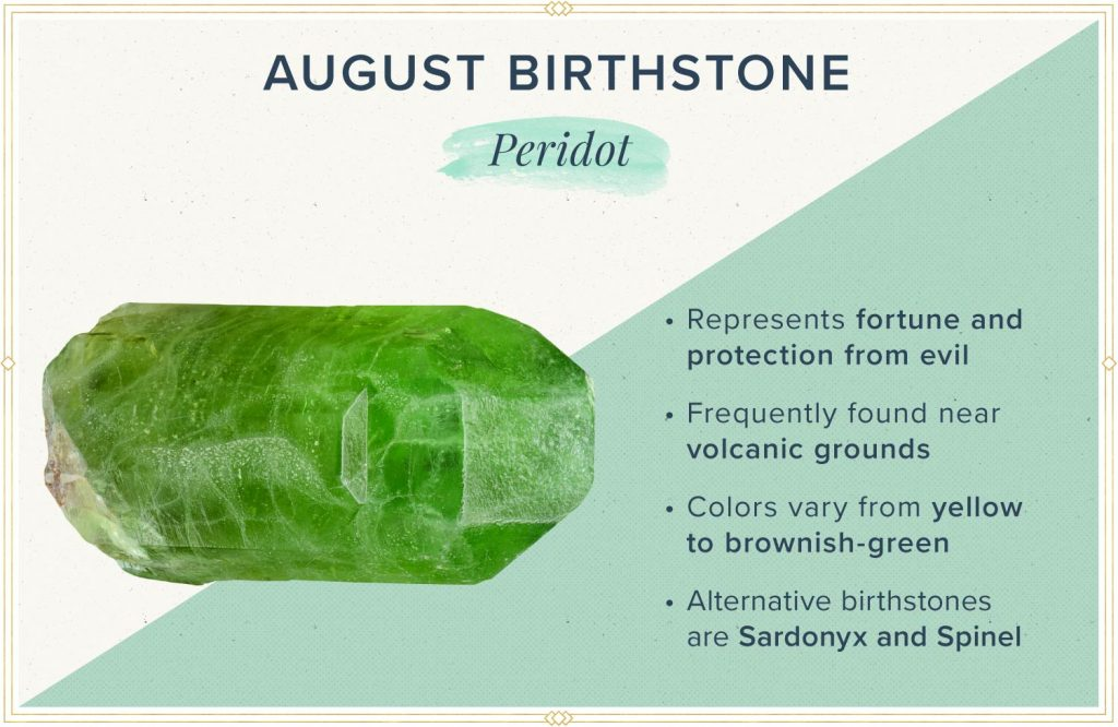 august birthstone peridot meaning and symbolism