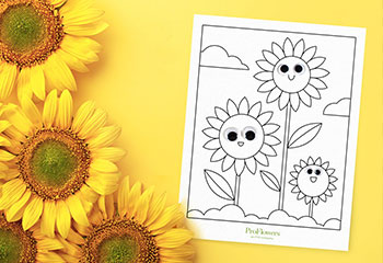 sunflowers coloring page googly eyes