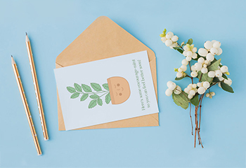 printable get well card on light blue background with pencils and branches