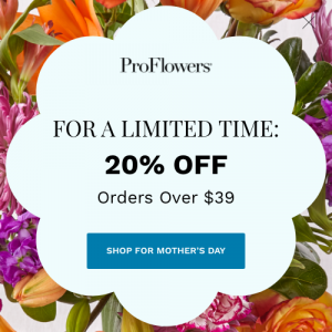 20 Percent off M-Day Flowers