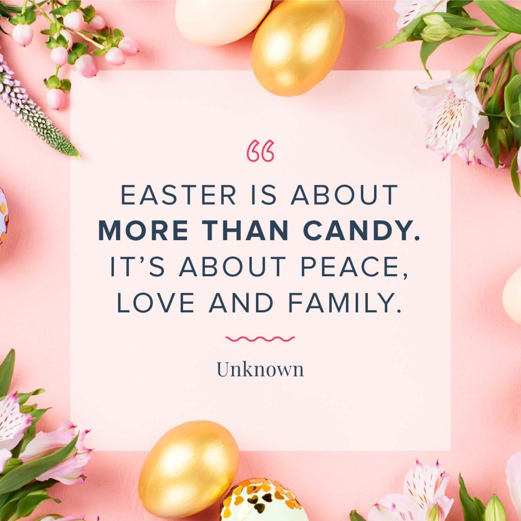 easter is about more than candy quote