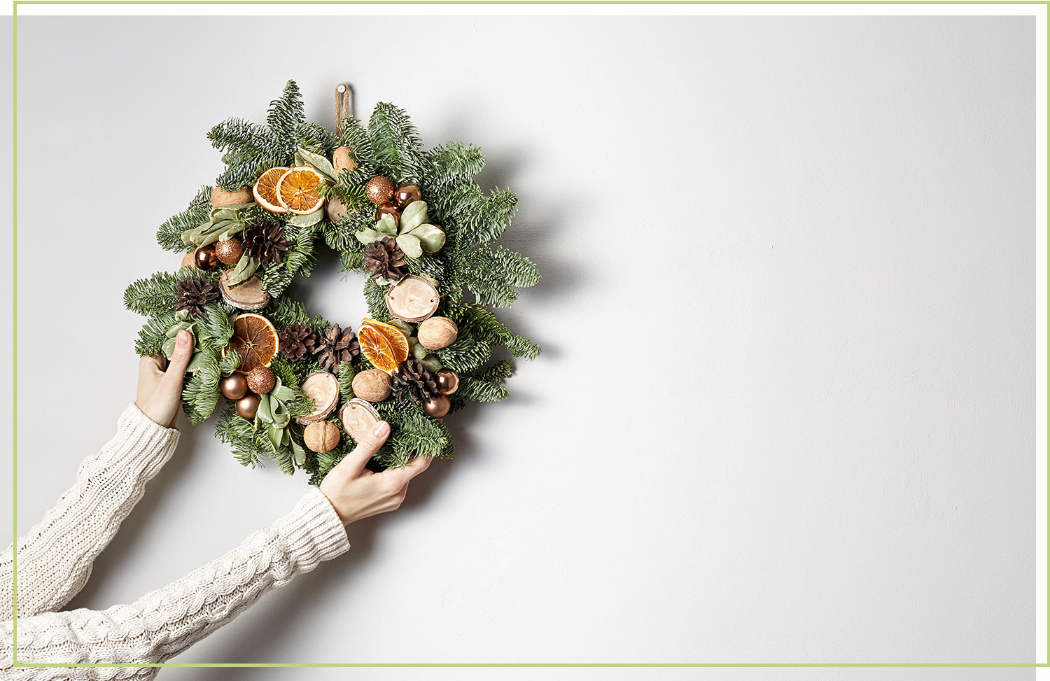 DIY dried fruits and nuts christmas wreath