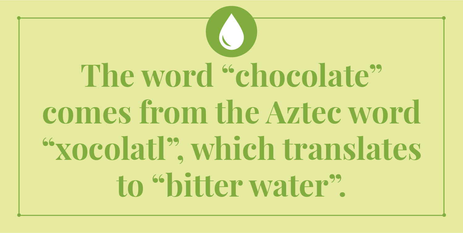 origins of the word chocolate